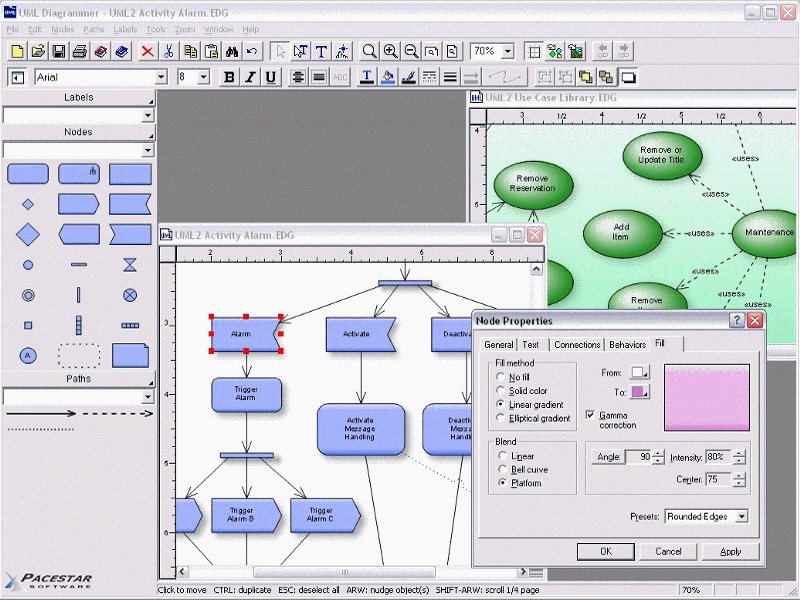 Uml diagram software create sequence diagrams use case diagrams uml diagrammer screen shot ccuart Images