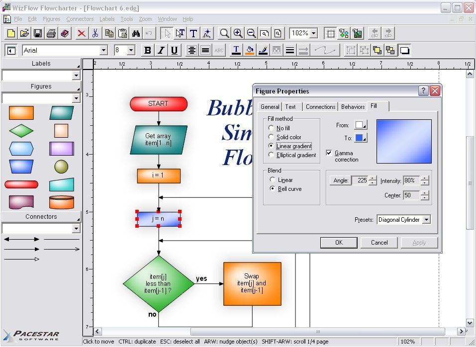Flowcharting software wizflow flowcharter includes flowchart wizflow screen shot ccuart Choice Image