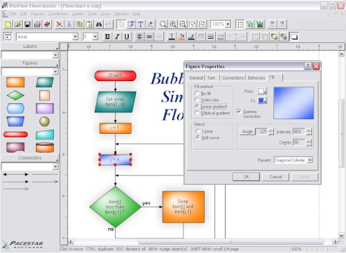 flowcharting software wizflow flowcharter includes